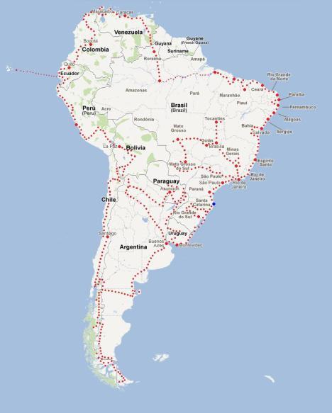 Rota América do Sul